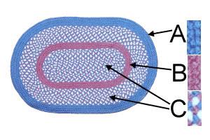 6' round braided rug p style product image