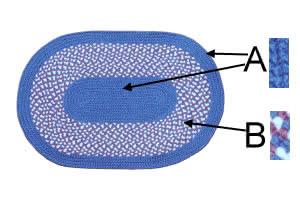 pw style oval braided rug custom size product image
